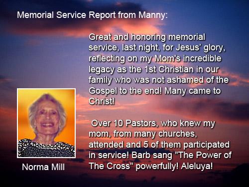 Memorial report