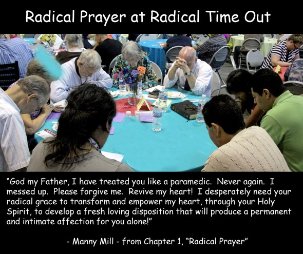 Radical Prayer quote for FB and TW