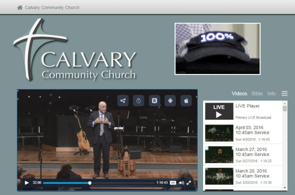 Manny at Calvary church with hat