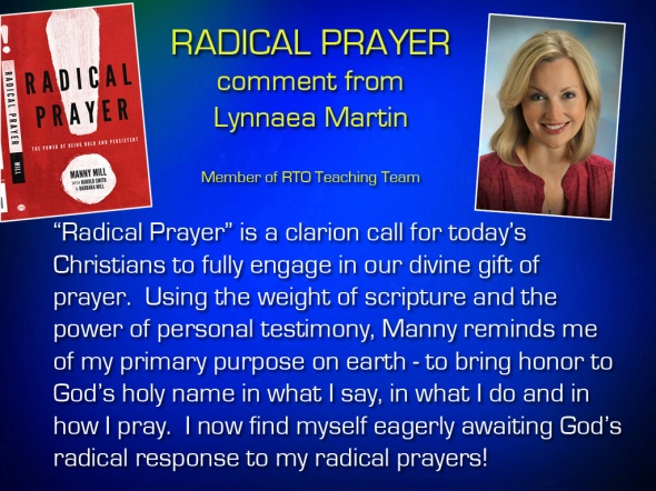 Radical Prayer Comment - Lynnaea Martin