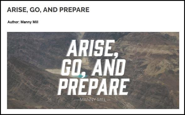 Arise Go Prepare article screen cap